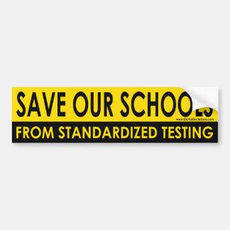Save Our Schools bumper sticker. Bumper Sticker