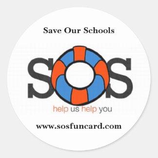 Save Our Schools Round Sticker