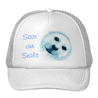 'Save our Seals' Baby Harp Seal Trucker Hat