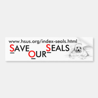 Save Our Seals Bumper Sticker