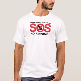 Save Our Sharks No Finning Men's Basic T-Shirt