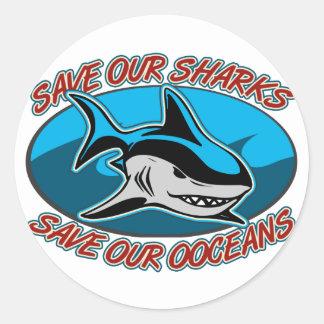 Save Our Sharks Round Sticker