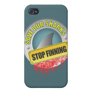 Save Our Sharks Stop Finning iphone case iPhone 4 Cases