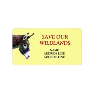 Save Our Wildlands 1 - American Southwest Burro Address Label