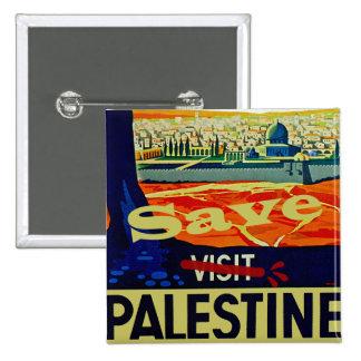 Save Palestine 15 Cm Square Badge