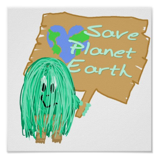 save planet earth print