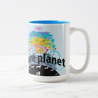 Save planet Two-Tone coffee mug