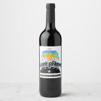 Save planet wine label