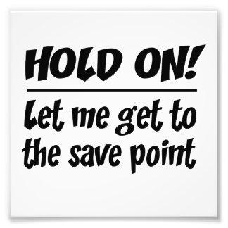 Save Point Photo Print