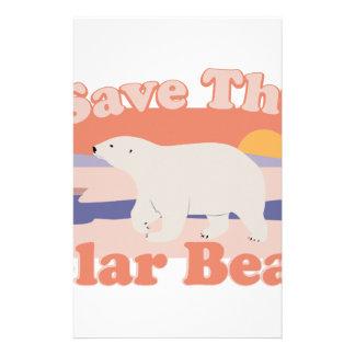 Save Polar Bears Personalized Stationery
