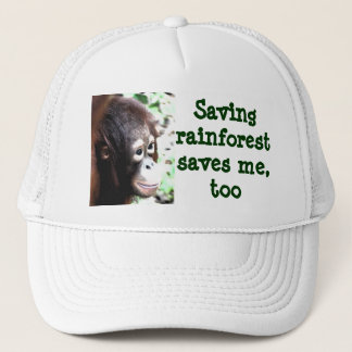 Save Rainforest, Save Wildlife Trucker Hat