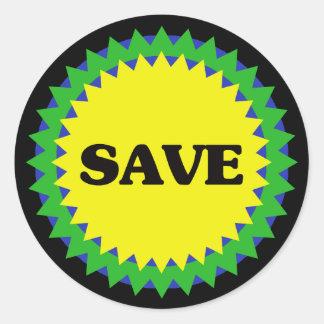 SAVE Retail Sale Sticker