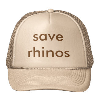 save rhinos Trucker Hat