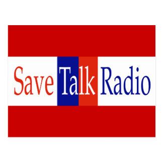 Save Talk Radio Postcard