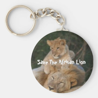 Save The African Lion Key Ring