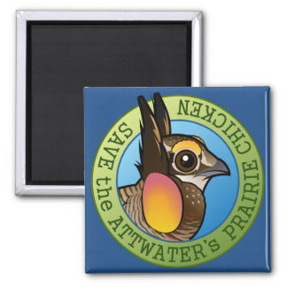 Save the Attwater's Prairie Chicken Magnet