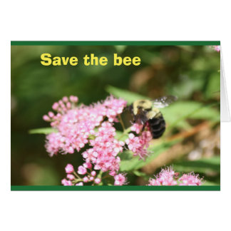 save the bee card