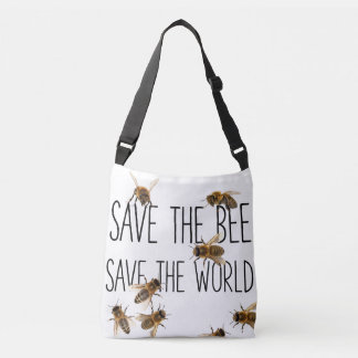 Save the Bee! Save the World! Live Design Crossbody Bag