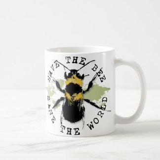 Save the Bee! Save the World! Medallion Collection Coffee Mug