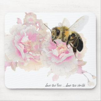 Save the Bee! Save the World! Pretty Bee Mouse Pad