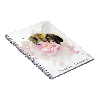 Save the Bee! Save the World! Pretty Bee Notebook