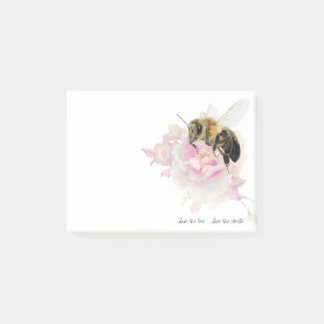 Save the Bee! Save the World! Pretty Bee Post-it® Notes