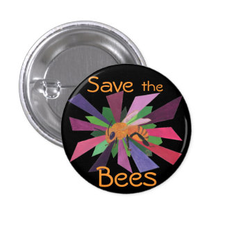 Save the Bees 3 Cm Round Badge