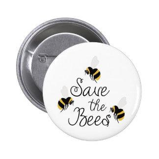 Save The Bees 6 Cm Round Badge