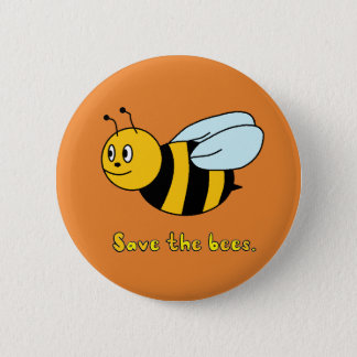'Save the Bees' 6 Cm Round Badge