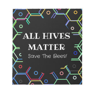 Save The Bees - All Hives Matter Notepad