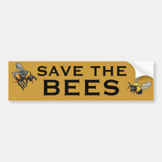 SAVE THE BEES BUMPER STICKERS