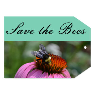 Save the Bees Gift Tag 13 Cm X 18 Cm Invitation Card