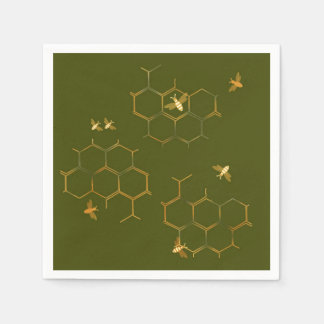 Save the Bees Honeycomb Paper Napkins Disposable Napkin
