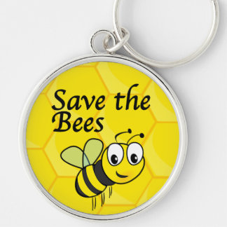 Save the Bees Keychains