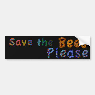 Save the Bees Please Casual Color Bumper Sticker