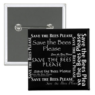 Save the Bees Please Collage Button