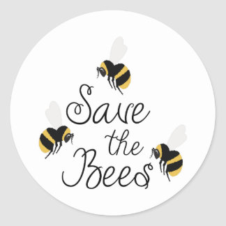 Save The Bees Round Sticker