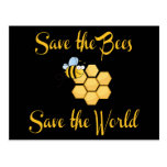 Save the Bees Save the World Postcard