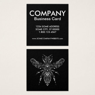 save the bees square business card