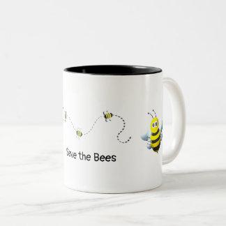 Save the Bees Two-Tone Coffee Mug