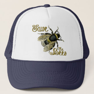 Save the Bees Vintage Illustration Trucker Hat