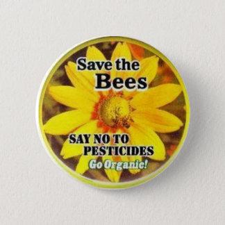 Save The BeesGo Organic 6 Cm Round Badge