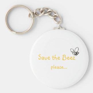 Save the Beez pleaze Keychain