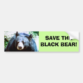 Save The Black Bear Bumper Sticker