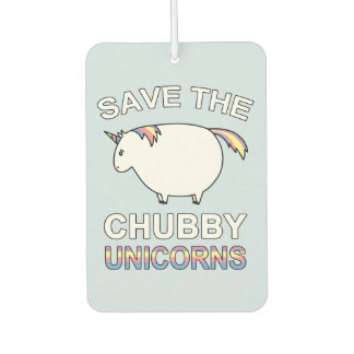 Save The Chubby Unicorns Car Air Freshener