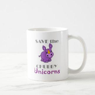 Save the Chubby Unicorns Fun Artwork Coffee Mug