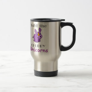 Save the Chubby Unicorns Fun Artwork Travel Mug