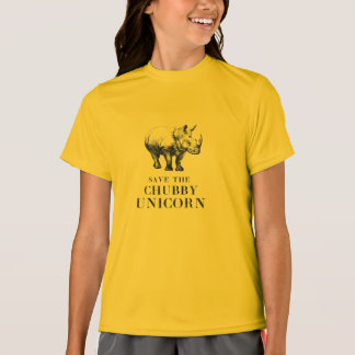 Save the chubby unicorns hilarious rhino T-Shirt