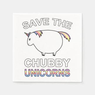 Save The Chubby Unicorns Paper Napkins