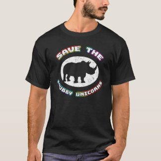 Save the Chubby Unicorns T-shirt - Funny Rhino Tee